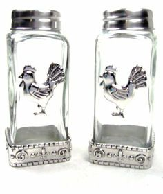 Ganz Salt and Pepper Shakers - Rooster by Ganz. $17.99. Collectible Ganz salt and pepper shakers. Matches with same design accessories by Ganz. Makes a wonderful house-warming, birthday, or bridal shower gift. This gorgeous set makes a great decorator item. Made of high quality heavy glass and the tops are stainless steel. Ganz Salt and Pepper Shakers. This set of Ganz salt and pepper shakers makes a great decorator item. The collectible shakers are made of high q...