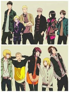 Attack on Titan characters, cool, outfits; Attack on Titan