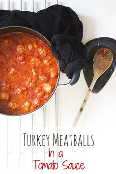 Turkey Meatballs in a tomato sauce Healthy Family Dinners, Healthy Meals For Kids, Kids Meals, Healthy Snacks, Eat Healthy, Turkey Recipes, Baby Food Recipes, Snack Recipes, Pasta Recipes