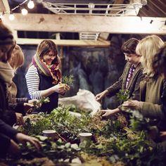 Wreath making via Wreath Making, How To Make Wreaths, Hygge, Table Settings, Couple Photos, Couples, Inspiration, Couple Shots, Biblical Inspiration