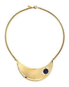 Rotation Lapis Breast Plate Necklace by Pamela Love at Bergdorf Goodman.