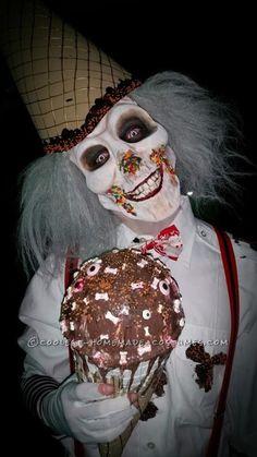 Handmade Super Creepy Ice Cream Man and Candy Clown Couple Costume...