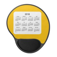 2018 Gold Calendar by Janz Gel Mouse Pad