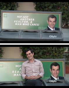 Phil's the man! Love modern family, and I love how he's played the role of a realtor with patience of a saint!