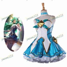 LOL League of Legends Star Guardian Soraka Cosplay Costume Fancy Dress Full Set #Handmade #CompleteOutfit #COSParty