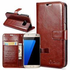Wallet PU Leather Case for Samsung Galaxy S7 / S7 Edge Coque Phone Bag Flip Cover Stand Cases For Samsung Galaxy S7