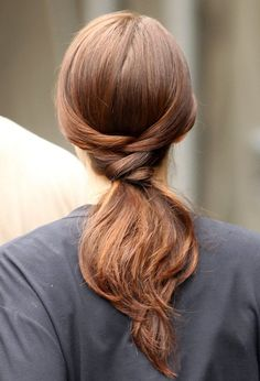 Knotted ponytail. TopShelfClothes.com