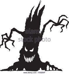 Scary Tree Silhouette Stock Photos & Scary Tree Silhouette Stock ... …