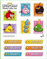 Postin verkkokauppa Vihkot ja pienoisarkit Angry Birds - kuuden (6) postimerkin pienoisarkki