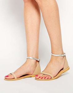 ASOS | FEATHER WEIGHT Leather Flat Sandals #asos #flat #sandals