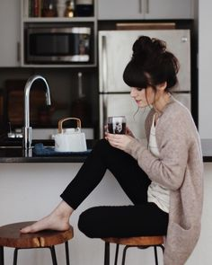 I wish i could have every fancy outfit on my board but lets be honest this is how i look every day....SAHM pride! messy hair, sweater, leggings, coffee, the only thing missing is wool socks..........................................essence: visual mapping