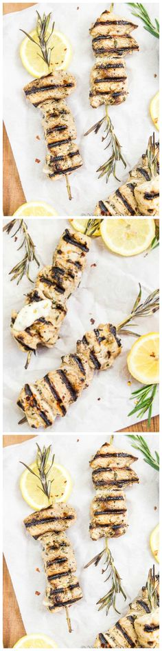 Grilled Garlic & Rosemary Chicken Skewers with Lemon Aioli. Grill up the Fun with these Easy & Elegant Kebabs!