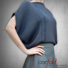 Pulover 'different kind of Tuesday' Different Kinds, Hand Knitting, Knitwear, High Neck Dress, Pullover, Grey, Sweaters, Handmade, Jackets