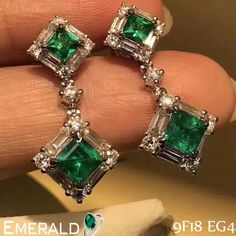 Look elegant by adorning classy pair of emerald earrings.