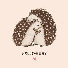 Sophie Corrigan adds clever wordplay to adorable animal illustrations. The UK-based freelance illustrator has released a series of drawings, some of which have already been made into greeting-cards, of cute animals and punny phrases. Animal Puns, Funny Animals, Cute Animals, Animal Humor, Animal Cards, Illustration Mignonne, Cute Illustration, Hedgehog Illustration, Fantasy Illustration