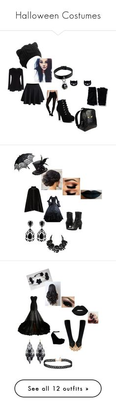 """""""Halloween Costumes"""" by lilnekomagdie20 ❤ liked on Polyvore featuring Alpha Studio, WithChic, Vogue, Old Navy, Forum Novelties, Anna Sui, Johnston & Murphy, Lime Crime, Miss Selfridge and Amrita Singh"""