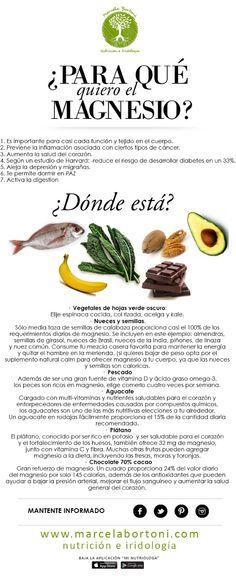 En que alimentos puedes encontrar el Magnesio