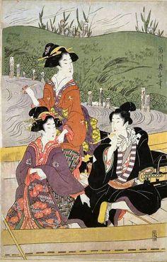UKIYO - E.......BY KIKUKAWA EIZAN.......PARTAGE OF ARTIST SALON OF JAPAN.....ON FACEBOOK......