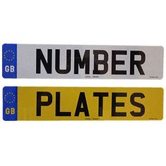 Car number plates 1 pair #gb/eu #registration plates complete with gb #badge,  View more on the LINK: 	http://www.zeppy.io/product/gb/2/252358011652/