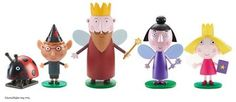 & Holly`s Little Kingdom Ben Holly Toys Five Figure Pack and Holly collectable five pack of figures in the classic style. One five figure pack supplied. Styles may vary. Pack includes: Nanny Plum, Jake, Holly, Gaston and king Thistle. Ben Elf, Ben E Holly, How To Do Magic, Character Online, Gaston, Elves, Lava Lamp, Classic Style, Toys