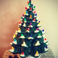 HUGE retro Atlantic Mold Lighted Christmas Tree? Yes, Please! Now available in my shop :)