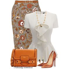 """Floral Skirt"" by oribeauty-cosmeticos on Polyvore"