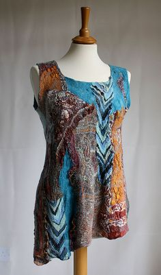 From Rugs to Richies III., nunofelted tunic top