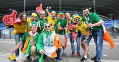 Republic of Ireland football team Ireland and Sweden fans joining forces to sing ABBA songs is the best thing you'll see today                   This is how football supporting should be done