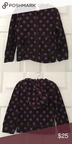 Purple hooded sweater jacket This is a gorgeous 4t sweater with purple stars for little girls Baby Gap Jackets & Coats