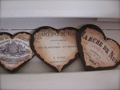French mourning plaques from Petite Michelle Louise. I love that she used some of my images here!