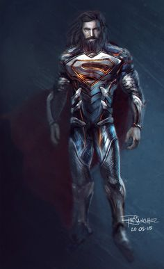 Superman redesign by Roland Sanchez. Reference link at: https://www.facebook.com/photo.php?fbid=10155586133665504