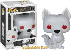 Funko Pop Game of Thrones Ghost Pop! Vinyl FigureNo Game of Thrones collection is complete without a Stark Direwolf! This Game of Thrones Ghost Pop! Vinyl Figure features the trusty companion to Jon Snow, white-furred, red-eyed, and stylized in t. Figurines D'action, Pop Figurine, Ned Stark, Pop Vinyl Figures, Pop Action Figures, Game Of Thrones Ghost, Funko Game Of Thrones, Game Thrones, Jaime Lannister