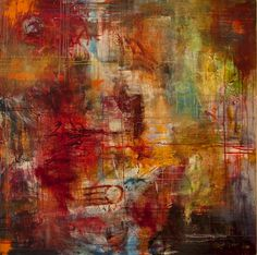 """Ron Cavedaschi; Painting, """"abstract devotion"""""""