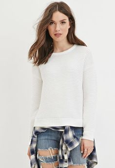 Ribbed Knit Sweater | Forever 21 - 2000165180