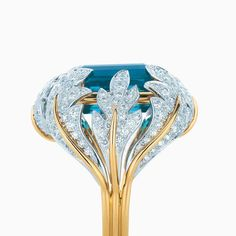 Tiffany & Co Shlumberger leaf claster ring