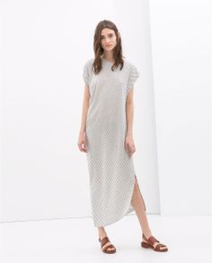 ASYMMETRICAL LONG DRESS from Zara. I was thinking this would be a great thing to wear at home when you would love to be in your pj's all day but your husband wouldn't go for it.