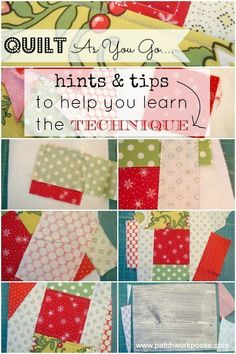 Learn the quilt as you go technique a little quicker with these hints and tips. Starting off can be tricky, these will help you get it right.