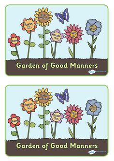 Twinkl Resources >> Garden of Good Manners Display Poster >> Classroom printables for Pre-School, Kindergarten, Elementary School and beyond! Display, Posters, Behavior