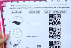 FREE CVC QR Codes by Aylin Claahsen - QR codes are a great way to get your students engaged in a lesson! In this literacy center, students will be looking at a picture, saying the CVC word, making the CVC word with letter tiles (or writing it) and then scanning the QR code to check their answer.