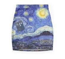 'Starry Night Inspiration Tardis Time Machine' by Angelinas Doctor Who Tardis, Van Gogh, Mini Skirt, Artwork, Inspiration, Night, Products, Biblical Inspiration, Work Of Art