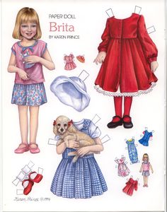 Paper Dolls | ... is an adorable little girl and she is busy cutting out paper dolls