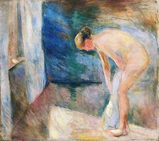 "After the Bath,Edvard Munch - 1892, 19x13"""