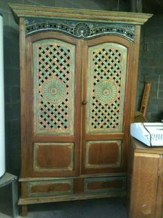 hand carved antique armoire in Noe_moving_sales Garage Sale in Hanceville , AL for $850.00.