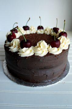 vegan black forest cake | The Baking Fairy