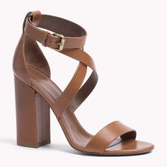 Tommy Hilfiger Heeled sandals brown cognac
