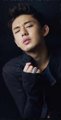 Yoo Ah In 2015 headshot (NM: Again, more photography inspiration with/for male models!)