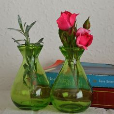 Grehom Recycled Glass Bud Vase (Set of 2) - Classic (Green);10 cm Vase