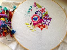 Anna Maria Horner embroidery