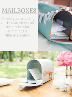 Use An American Mailbox For Wedding Cards - mailboxes available from www.theweddingofmydreams.co.uk