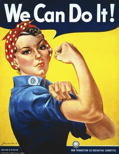 Rosie The Riveter was an advertising image used during World War II to encourage women to join the workforce